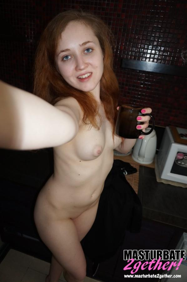 Pale skinned naked body with beautiful but small breasts and a fully shaved pussy.