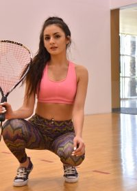 Gym girl Natalie FTV pulls down her yoga pants in the gym and flashes her ass
